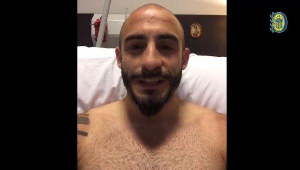 Recién operado, Pinola mandó un mensaje a los hinchas canallas