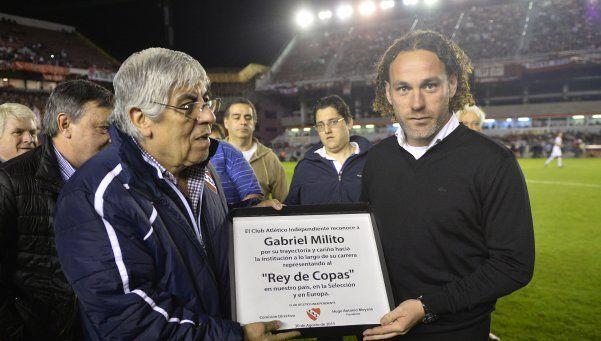 "Hugo Moyano: ""Con Gabriel Milito como técnico vamos por todo"""