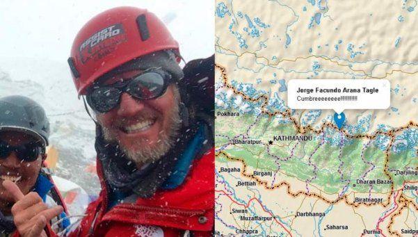 Hazaña de Arana: hizo cumbre en el Himalaya