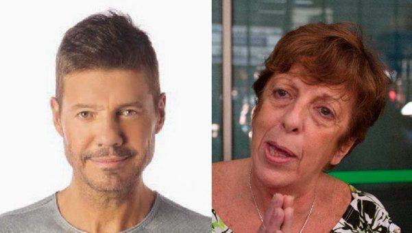 Insólito cruce entre Tinelli y Viviana Fein