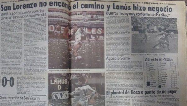 Archivo | Aquel San Lorenzo - Lanús en el Monumental