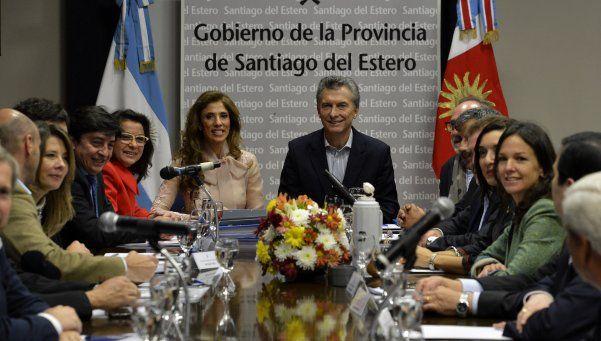 Macri encabezó la reunión de Gabinete en Santiago del Estero