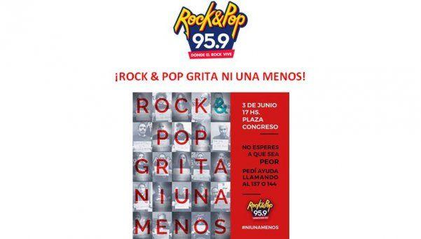 El rock grita #NiUnaMenos: la original movida de la Rock&Pop
