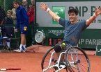 Gustavo Fernández, campeón de Roland Garros sobre silla de ruedas