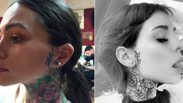 La musa de Cande Tinelli le reprochó plagio por un tattoo