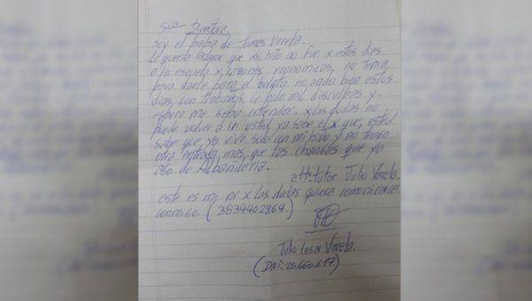 Conmovedora carta de un padre a la escuela de su hijo: no tenía plata para el boleto