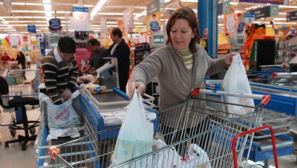 Descenso en ventas reales en supermercados