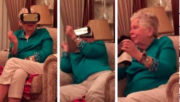 Video | Una abuela, aterrorizada por la realidad… virtual