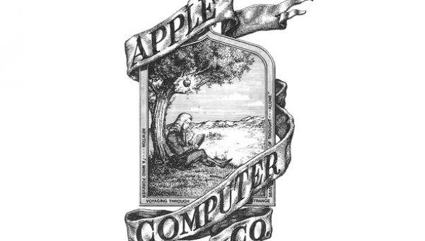 El primer logotipo de Apple no era una manzana