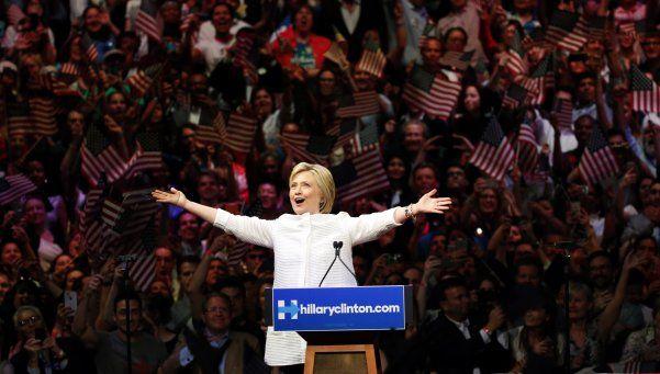 Hillary Clinton, la primera candidata presidencial mujer de EEUU