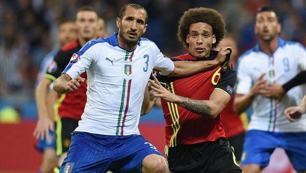 Italia le mostró a Bélgica un poco de carácter