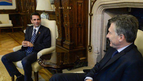 El Presidente recibió a líder de la oposición venezolana