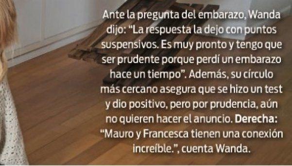 Wanda Nara confirmó que está embarazada