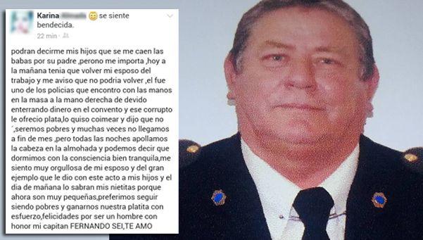 El orgullo de familiares y amigos de uno de los policías que detuvo a López