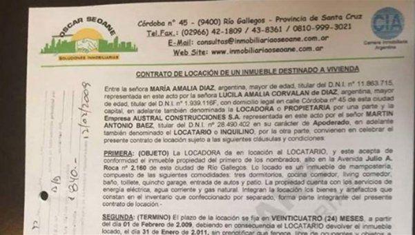 Encontraron documento que confirma relación entre López y Báez