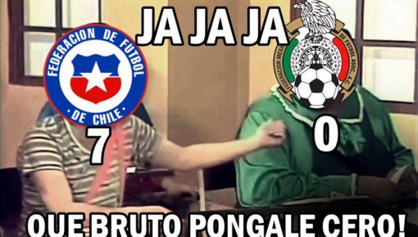 Los mejores memes de la goleada histórica de Chile sobre México