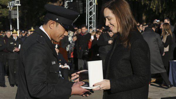 Vidal ascendió a los policías que capturaron a López