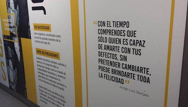 El gobierno porteño homenajea a Borges... con frases que no son de Borges