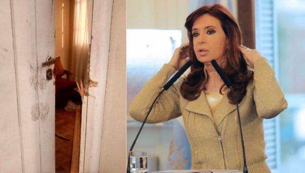 Cristina denunció que violentaron la casa de los padres de Néstor Kirchner