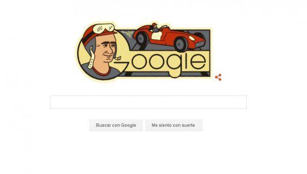 """Google festejó el nacimiento de Fangio con un """"doodle"""""""