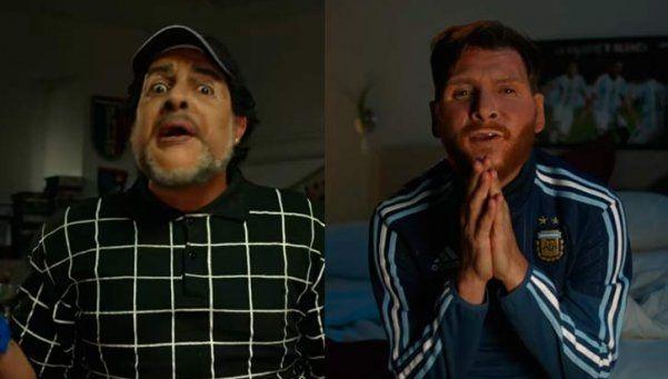 Video   ¡Maradona llamó a Messi antes de la final de la Copa América!