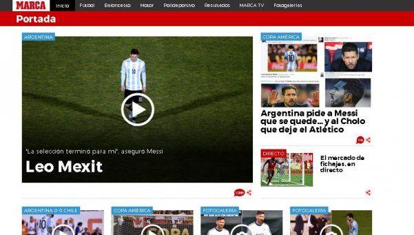 De Alemania a la India, la renuncia de Messi en los medios del mundo