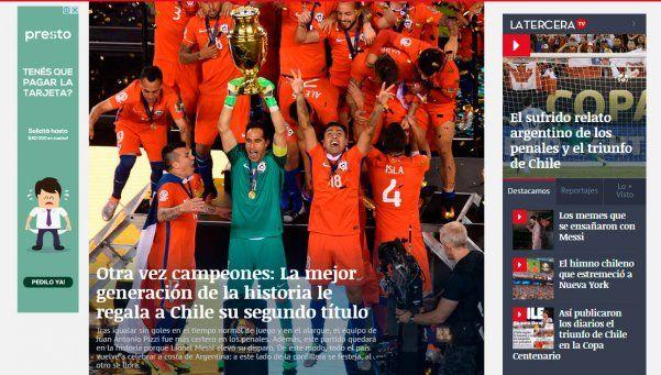 Dejá vu criollo: así festeja Chile su segunda Copa América