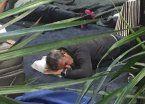 Julio Cobos durmió en el piso del aeropuerto de Nueva York