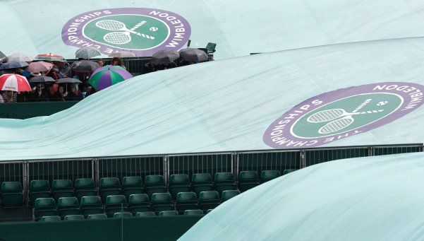 Wimbledon: la lluvia salvó a los argentinos