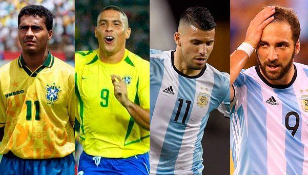 De Romario y Ronaldo a Higuaín y Agüero