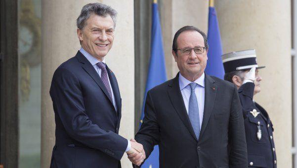 Macri se reunió con Hollande en Francia