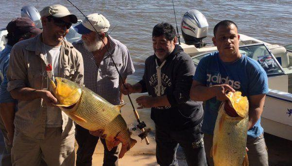 Maradona, un pescador de Diez