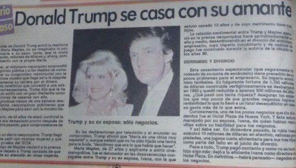 Archivo | El día que Donald Trump anunció que se casaba con su amante