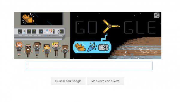 La sonda Juno entró a la órbita de Júpiter y Google lo festejó con un doodle