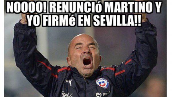 Renunció Martino y los memes coparon las redes sociales