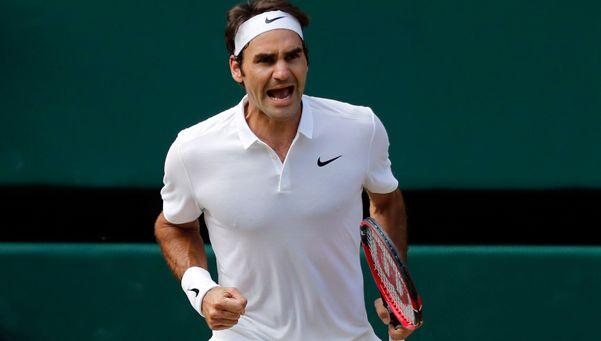 Federer se vistió de héroe en Wimbledon y pasó a semifinales