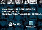 Racing, el primer club argentino en tener perfil oficial en Spotify