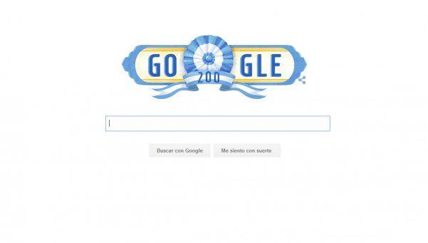 Google también festeja el Bicentenario