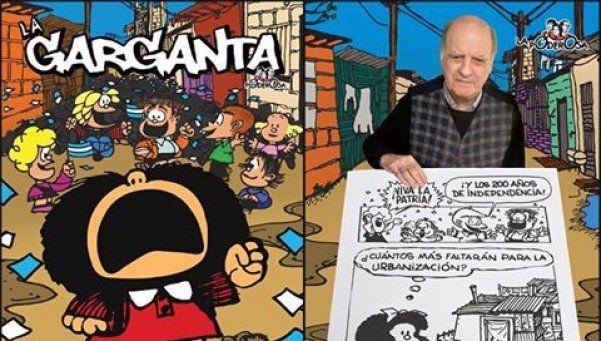 Quino revivió a Mafalda para el Bicentenario y La Garganta