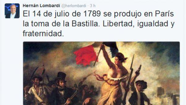 Lombardi, la Revolución Francesa y un error que se viralizó