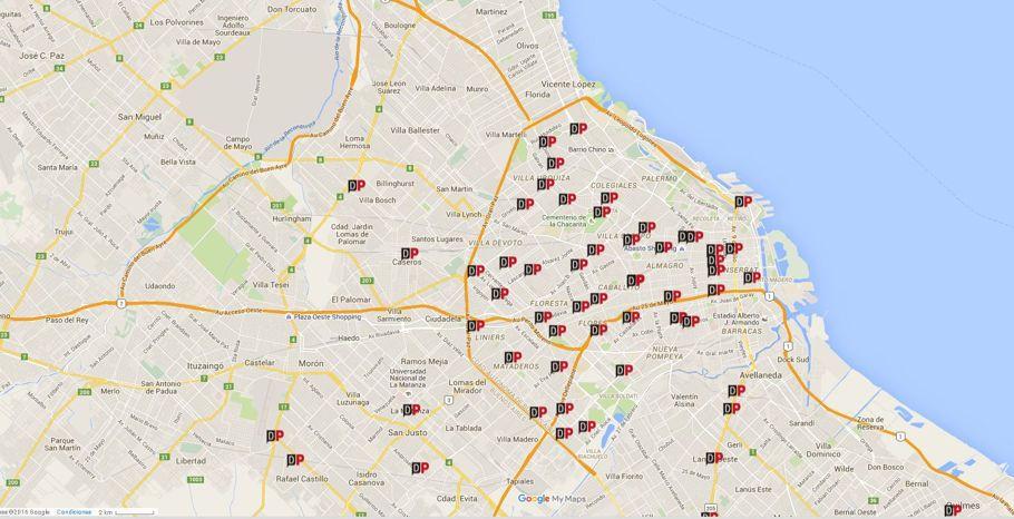 El mapa de los cacerolazos en todos el país