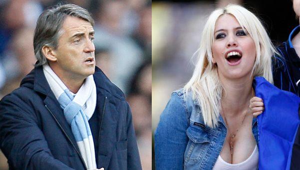 Mancini, DT del Inter, recurre al porno para contestarle a Wanda