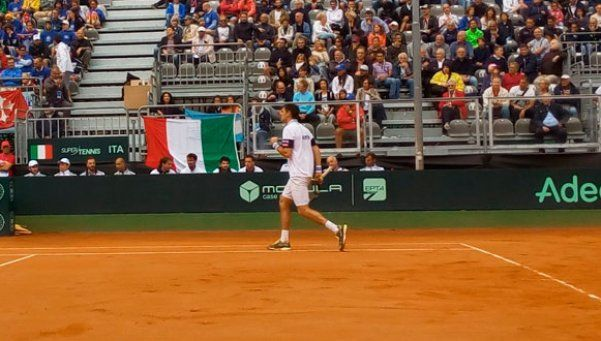 Copa Davis: Delbonis ganó y la lluvia retrasó a Mónaco para hoy