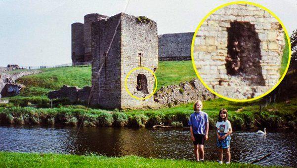 Fotografía fantasma de Robin Hood en un castillo de Gales
