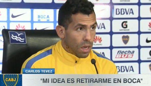 Tevez: Obvio que sigo en Boca; mi idea es retirarme acá