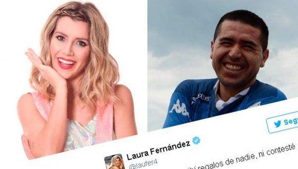 Laurita Fernández desmintió que Riquelme haya querido conquistarla