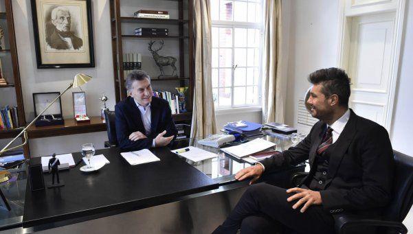 Macri recibió a Tinelli y hasta intercambiaron caras en Snapchat