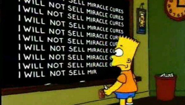 Cada frase que Bart Simpson escribe en el pizarrón es diferente