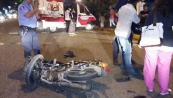 Hijo de Lanchita Bissio chocó con la moto: está herido y hubo un muerto