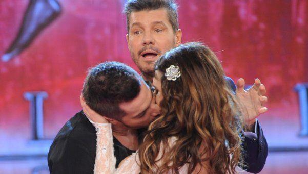 Delgado besó a Charlotte Caniggia y Barby se puso celosa
